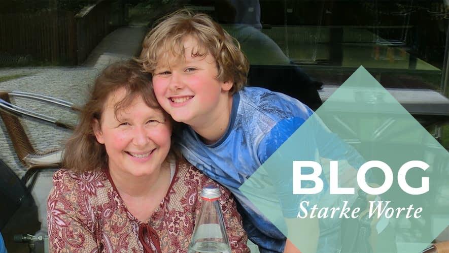 Simone mit ihrem Sohn
