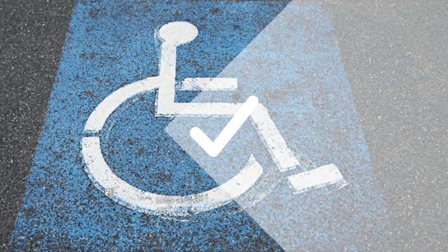 Zeichen für Behindertenparkplatz