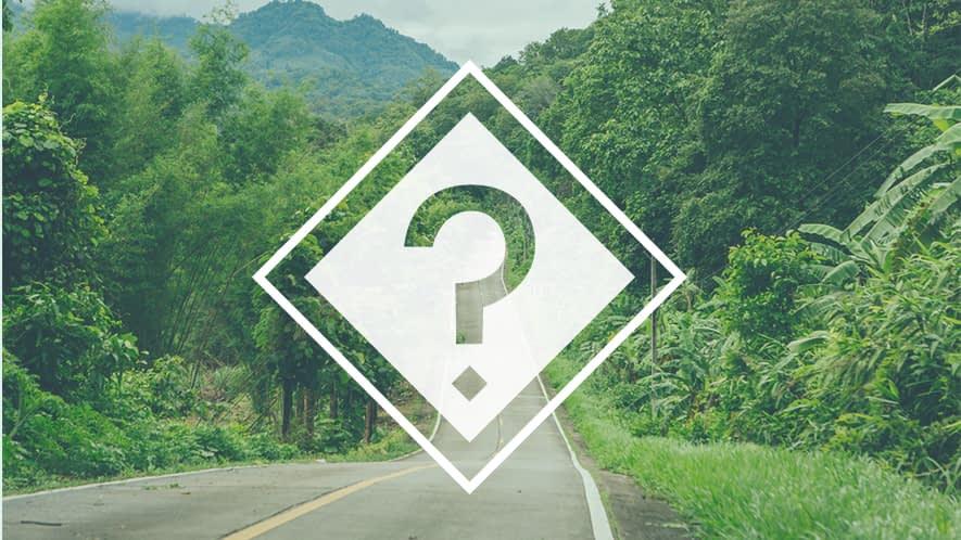 Fragezeichen vor Straßenverlauf