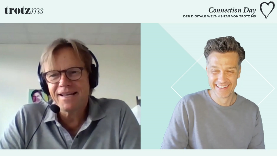 Experte Prof. Dr. Limmroth und Wayne Carpendale im Interview beim Connection Day