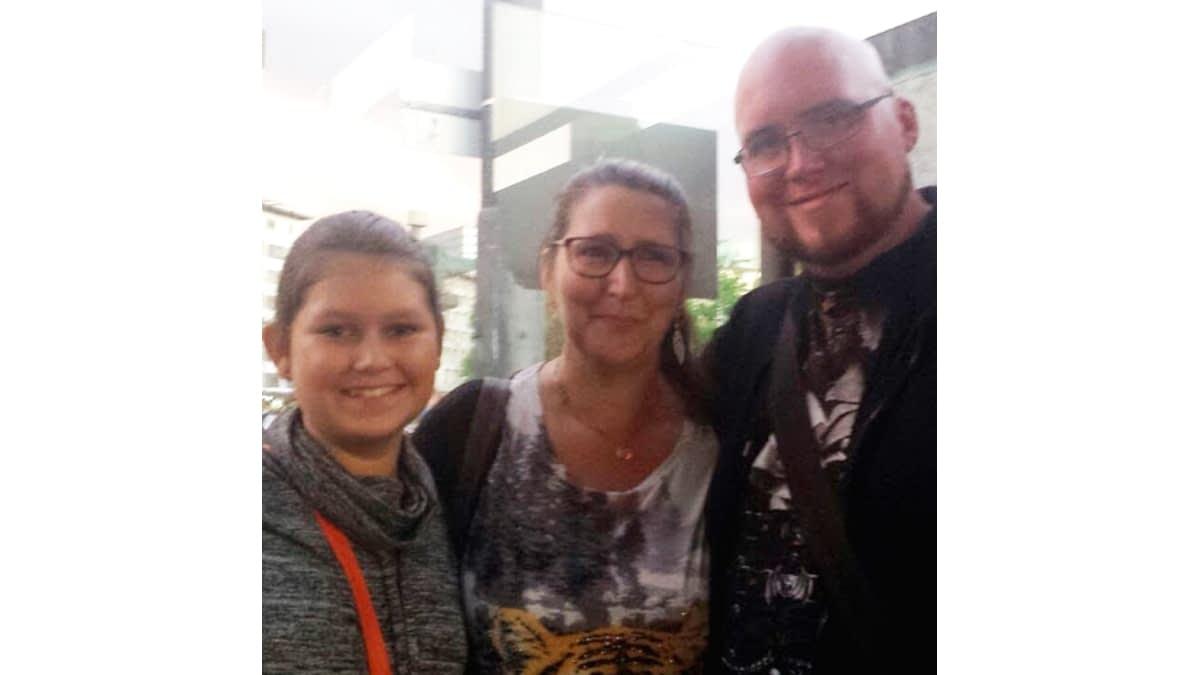 Steffi H. mit ihren Kindern