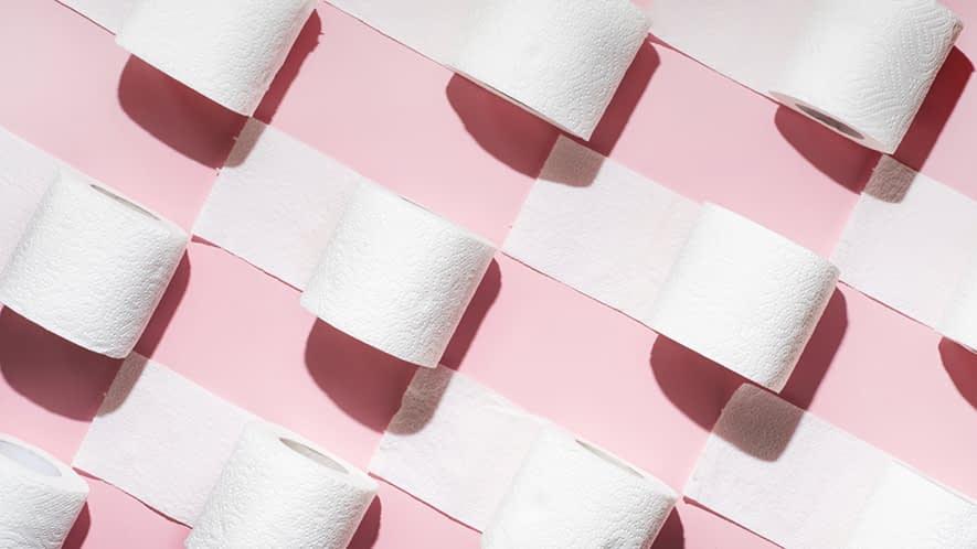 Viele Rollen Toilettenpapier