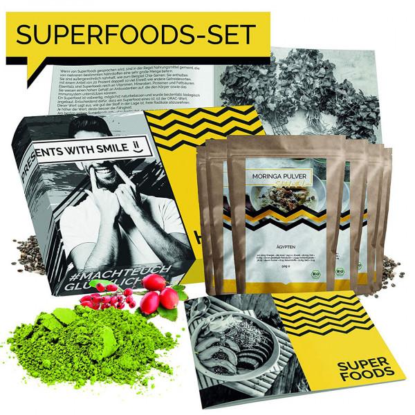 BIO Superfood Probierset 5x50g Superfoods Geschenkbox
