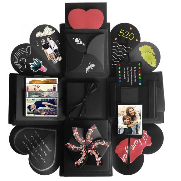 JRing Explosions Box, Kreative Überraschung Geschenk Box DIY Faltendes Fotoalbum