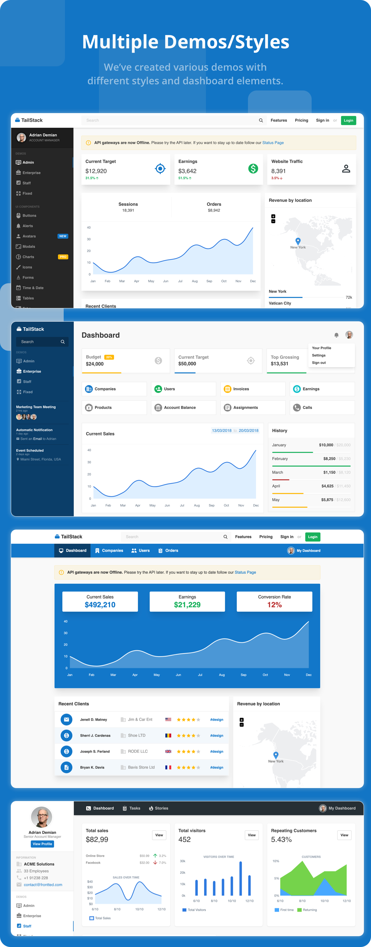 TailStack - TailwindCSS HTML Dashboard Template - 1