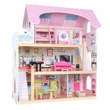 Domek dla lalek – drewniany: Rezydencja Bajkowa zdjęcie 1