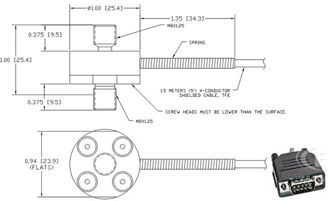 Engineering drawings for OMEGA's standard LCM202
