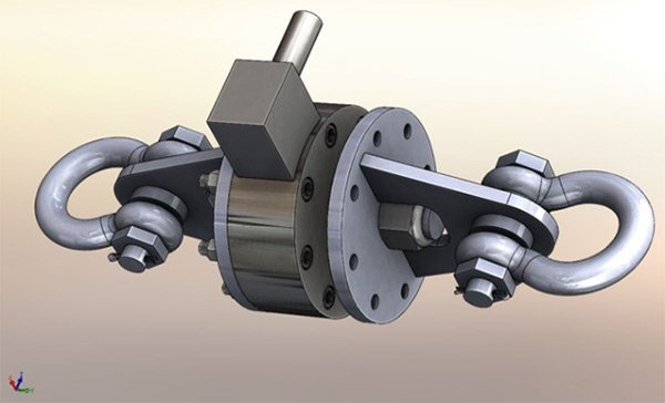 Prototype for a customized submersible load cell.