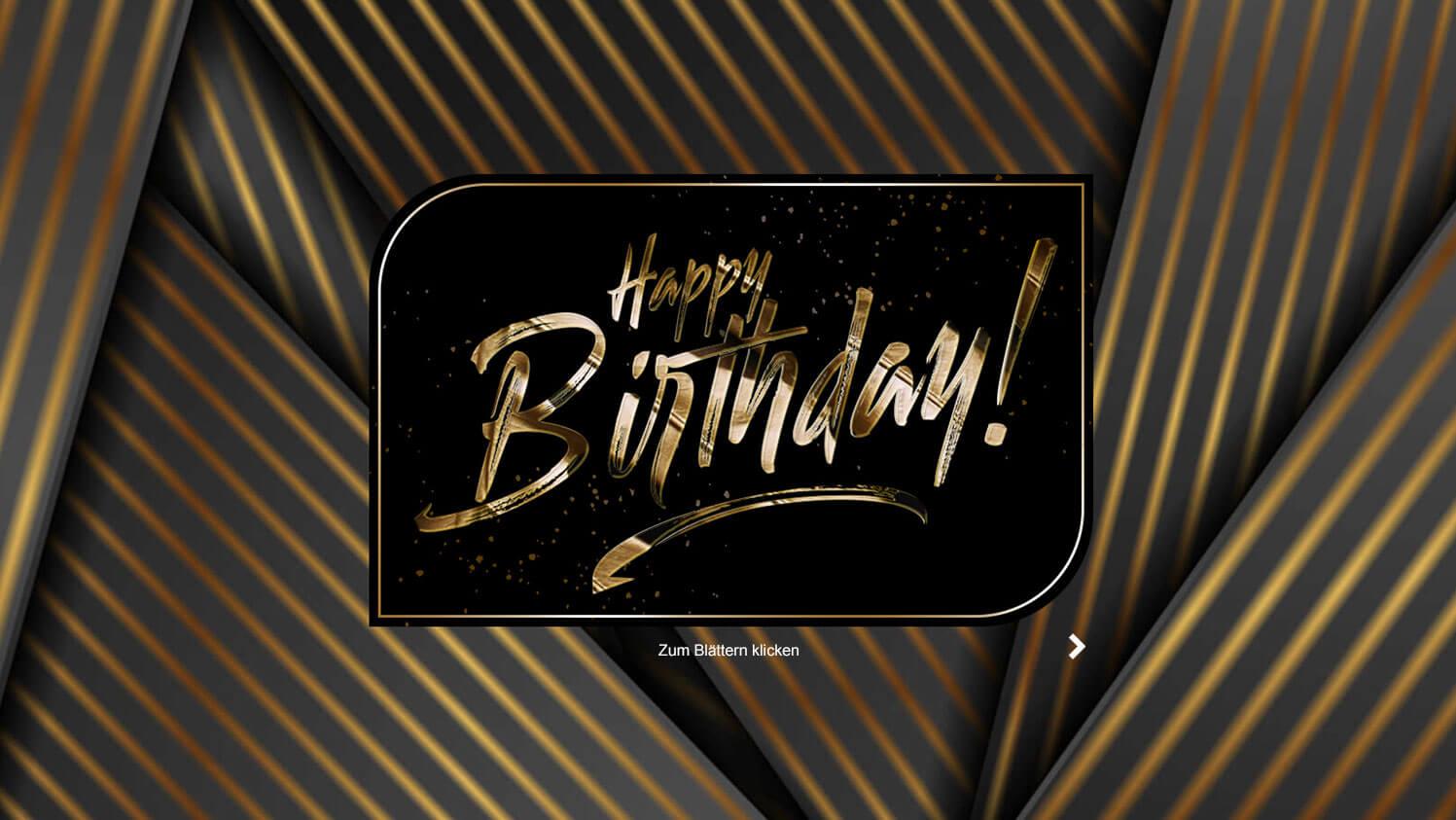 Geburtstagskarte per mail animiert