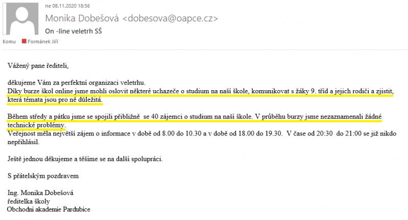 """Obchodní akademie Pardubice - """"dobrozdání"""""""