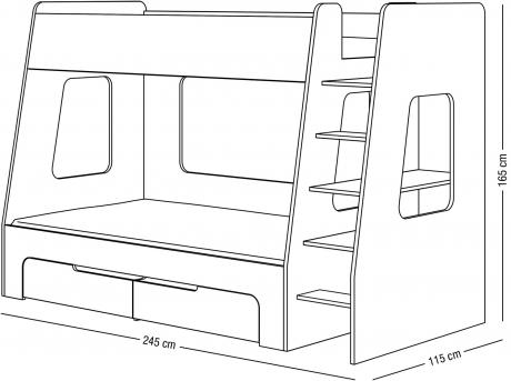Patrová postel Nimbo II.