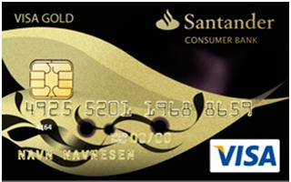 Lån penge fra Santander VISA Gebyrfri
