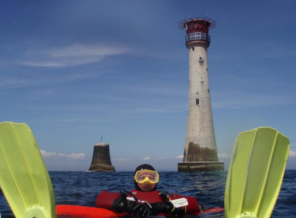 Picture taken by Mark Gosling at Eddystone Lighthouse on Aug 29, 2018
