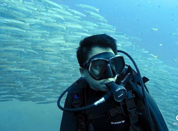 Picture taken by Korpong Krailkhum at Sail Rock on Oct 21, 2020