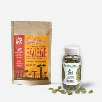 Жилищная программа «ДОЛГОЛЕТИЕ» (25 упаковок Баобаба + 10 упаковок ростков пшеницы по 200 таб.)
