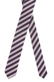 Wasserabweisende Krawatte aus Seiden-Jacquard mit diagonalen Streifen