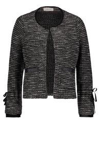 Blazer-Jacke mit aufgesetzten Taschen
