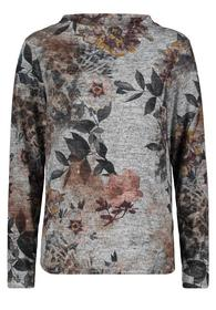 Casual-Sweatshirt mit Stehkragen