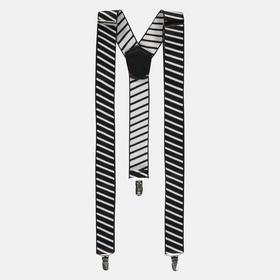 Hosenträger mit diagonalen Streifen