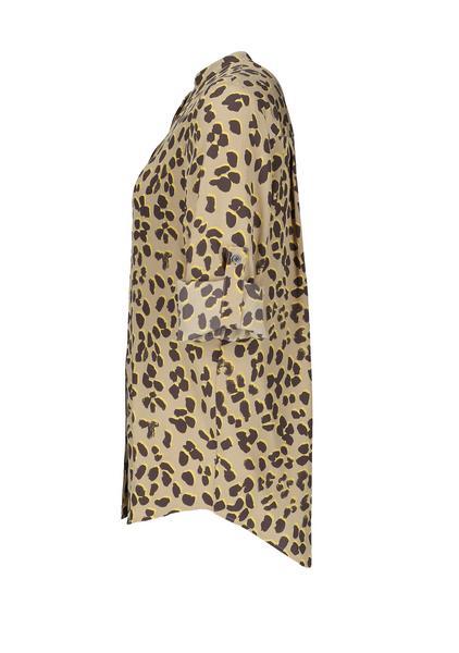 Relaxed-Fit Bluse aus reiner Seide mit Animal-Print
