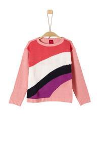 Pullover in Colourblock-Optik