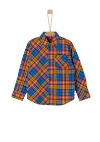 Baumwollhemd im Karo-Design