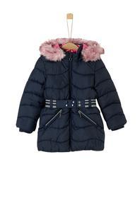 Mantel mit Gürtel und Kunstfell