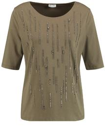Shirt mit Steinchenschmuck