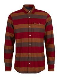 Regular: Flanellhemd mit Blockstreifen