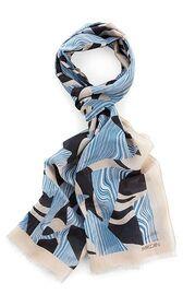 Leichter Schal aus Baumwolle und Seide