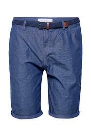 Chambray-Shorts mit Allover-Print