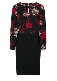 Kleid im Fabric-Mix