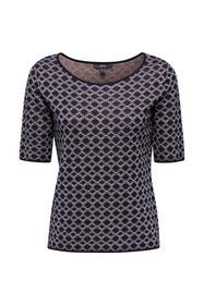 Kurzarm-Pullover mit Grafik-Muster