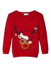 Gestrickter, weihnachtlicher Pullover