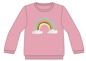 Regenbogenprint Sweatshirt