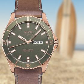 Ocean Star Leder Automatik Armbanduhr