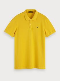 Classic garment-dyed cotton pique p