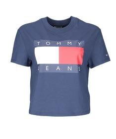 Cropped Fit T-Shirt mit Flag