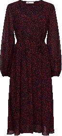 Midi-Kleid mit Blumen-Print