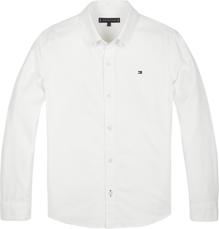 Baumwoll-Hemd mit Button-Down-Kragen