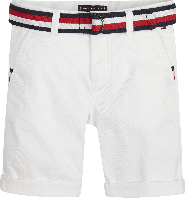 Essential Chino-Shorts mit Gürtel