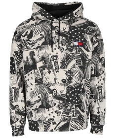 TJM ALLOVER PRINT BADGE HOODIE