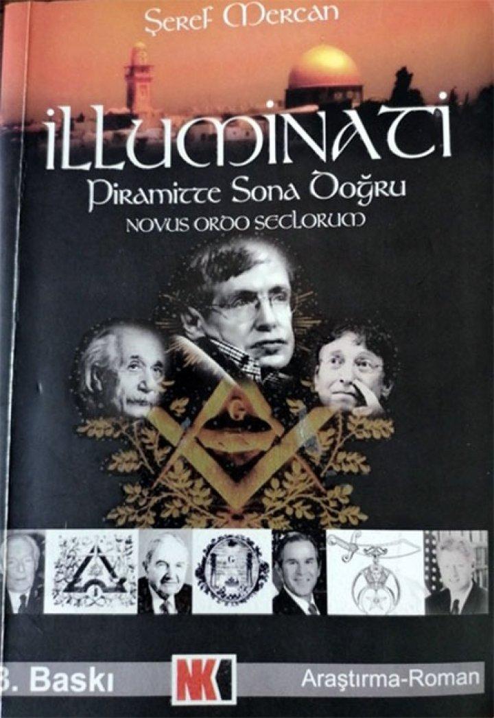 """Şeref Mercan'ın2005 yılında yazdığı """"İlluminati, Piramitte Sona Doğru"""" isimli araştırma-roman"""
