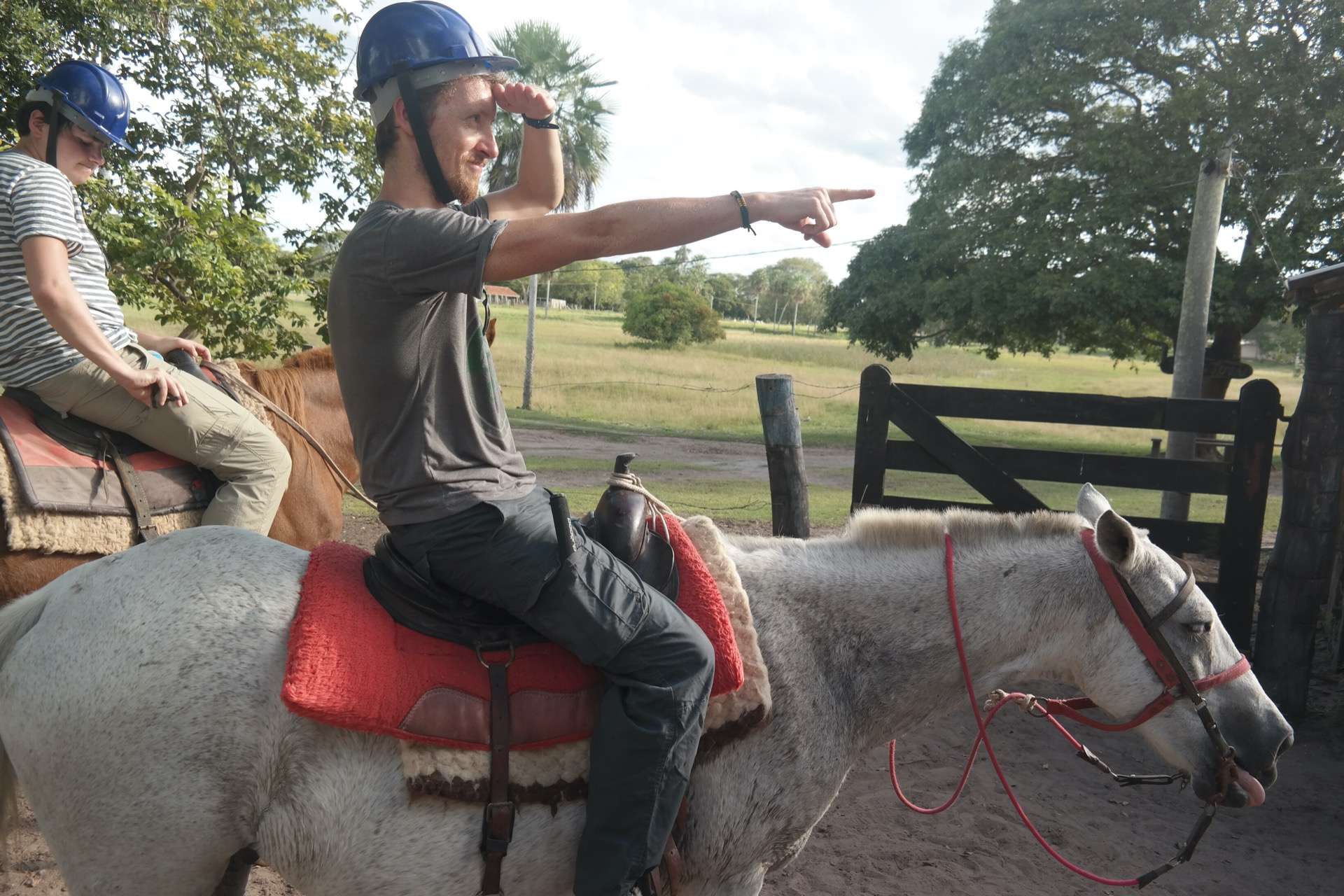 Tim on a horse