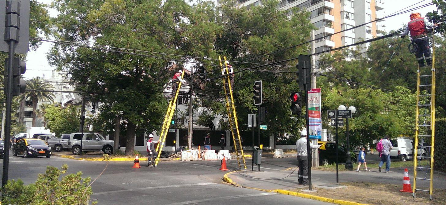 men on ladders