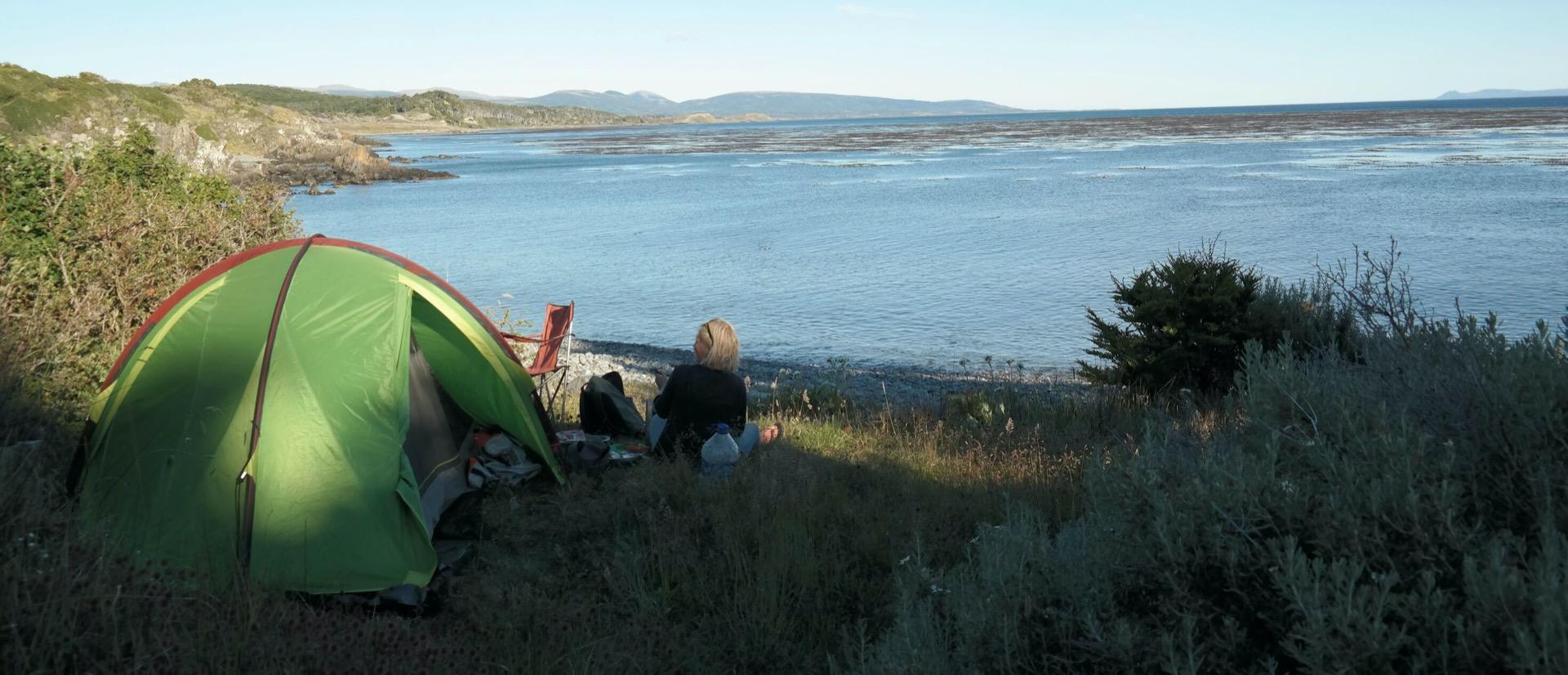 kamperen op het strand
