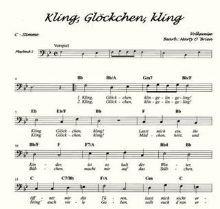 Erzgebirgische Weihnachtslieder.Meine Ersten Advent Und Weihnachtslieder C Instrumente Bass