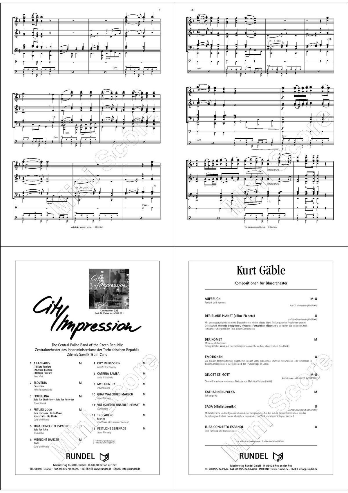 Volkslieder Unserer Heimat Blasorchester Noten Kaufen Im Blasmusik Shop
