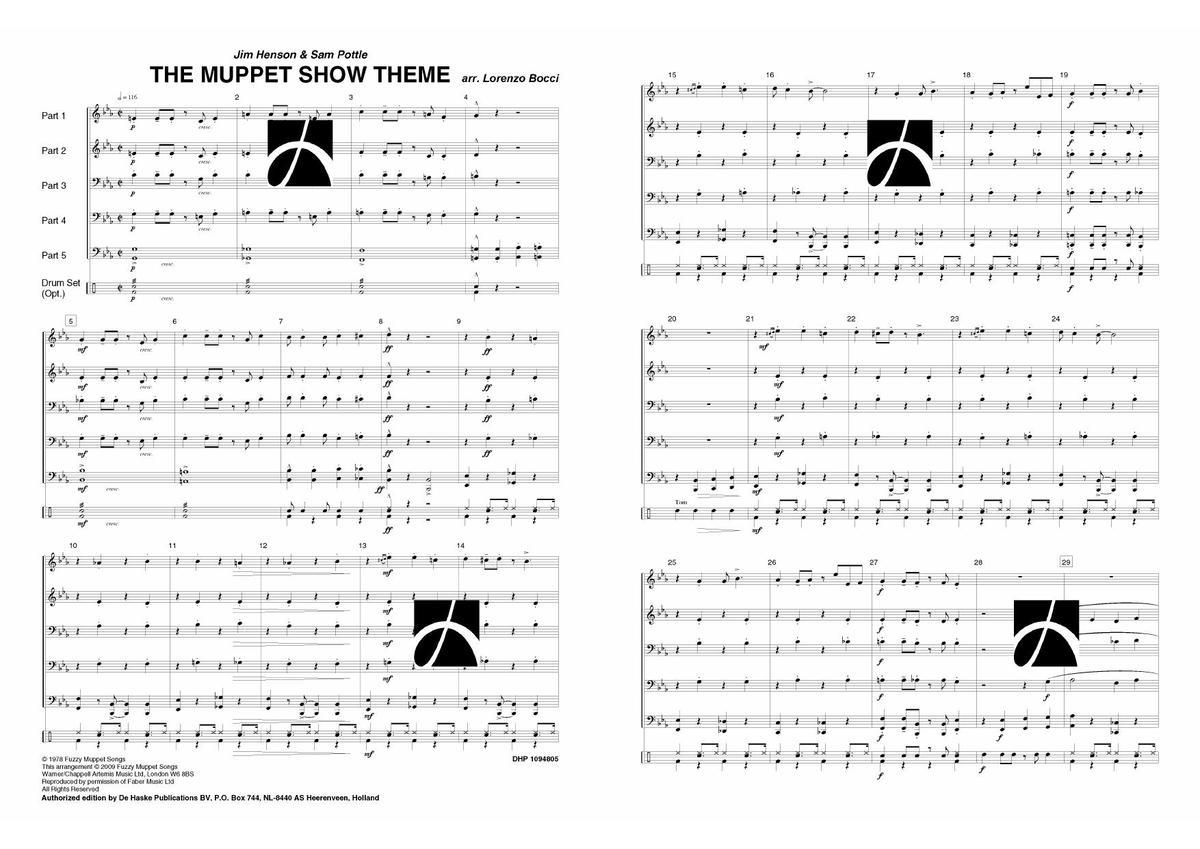 Sam Il FilmMusical Jim ShowNoten tema Henson Muppet 5RL4Aj