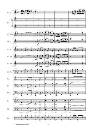 baden württemberg marsch noten marschmusik andreas horwath  badnerlied note n kostenlos.php #7